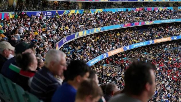 A general view of the stadium during the Women's T20 World Cup final cricket match between Australia and India at the MCG in Melbourne, Australia, March 8, 2020.(REUTERS)
