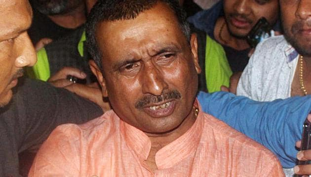 Unnao rape accused Kuldeep Singh Sengar who has been sentenced with lifetime imprisonment by a Delhi Court, in New Delhi on Friday.(ANI file photo)
