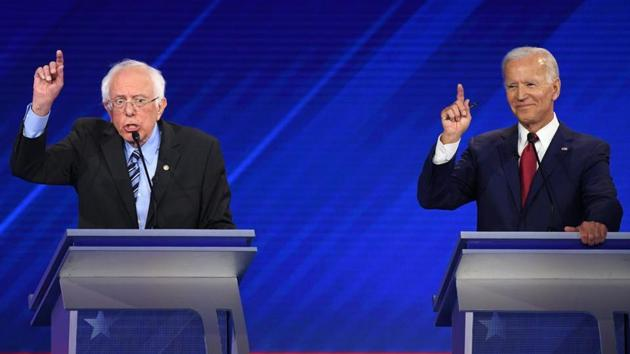 Biden and Sanders represent two different strands within the party. One is a pragmatic centrist, closely associated with Washington; the other is an avowed socialist, calling for the dismembering of the United States political and corporate establishment(AFP)