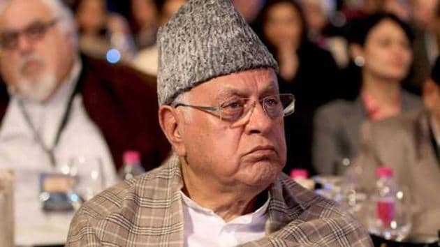 Former Jammu and Kashmir CM Farooq Abdullah was detained on August 4, 2019, a day before Article 370 abrogation.(Sanjeev Verma/HT File Photo)