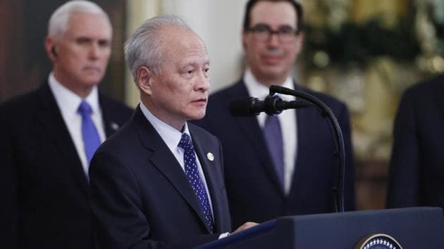 China's Ambassador to the US Cui Tiankai was summoned after Chinese Foreign Ministry spokesman Zhao Lijian tweeted that the US military had brought the virus to China.(AP)