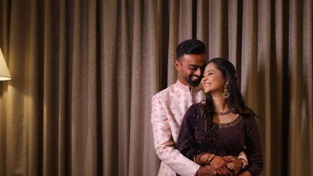 Jaydev Unadkat announced his engagement.(Twitter/Jaydev Unadkat)