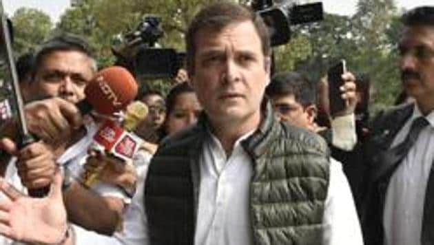 Rahul Gandhi had asked for the benefit of global oil price crash to be passed on to consumers.(HT PHOTO)