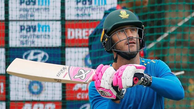 South Africa's Faf du Plessis during nets.(REUTERS)