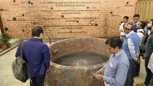 The 'Jallianwala Bagh' exhibition that was inaugurated on the occasion of the 130th foundation day of National Archives will be up for the public to view till April 30, from 10:00 am to 5:30 pm.(Burhaan Kinu/HT Photo)