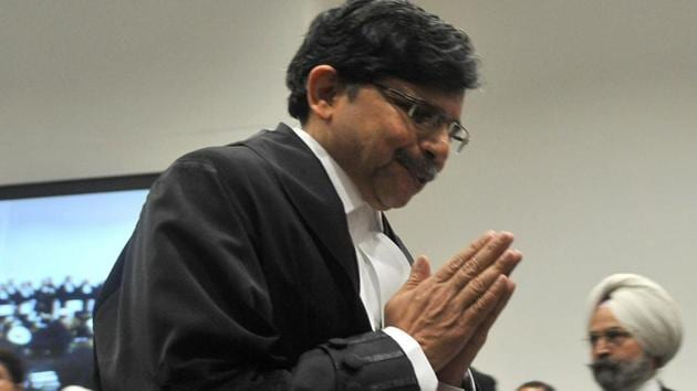Justice S Muralidhar takes oath at the Punjab and Haryana High Court, on March 06.(Ravi Kumar/HT Photo)