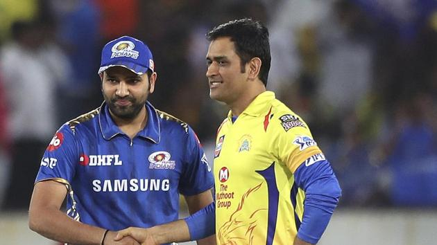 File image of MS Dhoni, Rohit Sharma(AP)