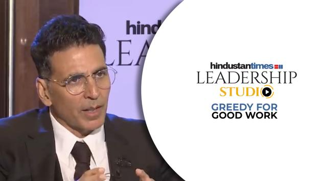 Bollywood star Akshay Kumar opened up like never before on his journey in Bollywood at the HT Leadership Studio. Akshay Kumar spoke of his struggle in the industry and revealed what kept him going even when his films were not doing well at the box office. He also shared his experience of working with new directors and youngsters, his success mantra and how he is experimenting with new characters.HT Leadership Studio brings you inspiring conversations with some of the most powerful people in the world. The ground-breaking and often unusual approach of these thought leaders have changed the way people think about politics, culture, fashion, sports, cinema and other fields. On HT Leadership Studio, they share their success stories with you in the most gripping and relatable format, a one-to-one conversation.