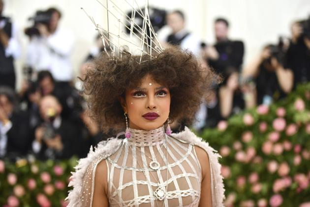Priyanka Chopra Jonas went for a a frothy gray Dior haute couture number as she walked on the red carpet last year.(photo: REUTERS)
