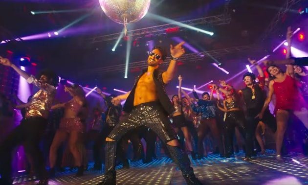 Tiger Shroff in a still from his new music video, Disco Dancer 2.0.