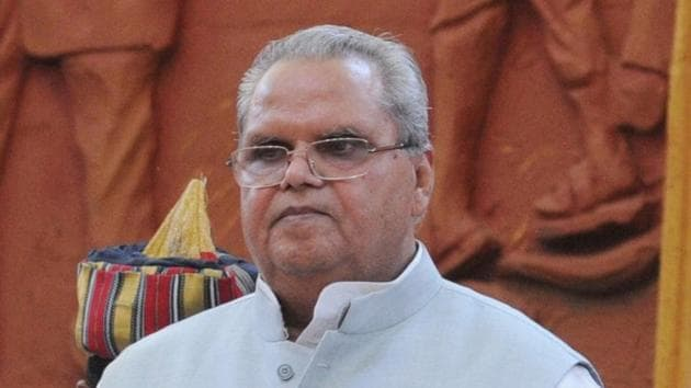 Satya Pal Malik was the Governor of Jammu and Kashmir before he took charge in Goa.(HT File Photo)