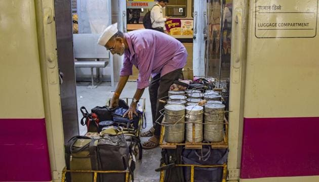 The dabbawala service, which started 125 years ago, has an annual estimated turnover of around Rs 45 crore.(PTI file photo)
