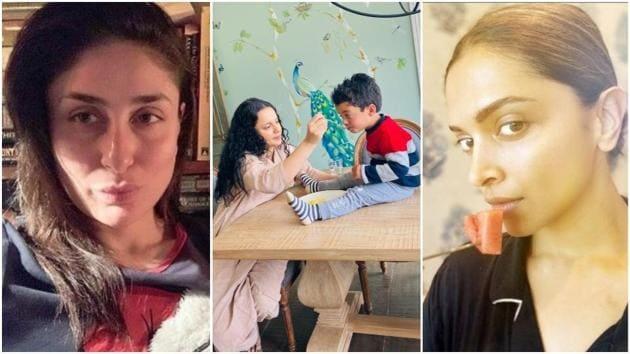 Kareena Kapoor, Deepika Padukone and Kangana Ranaut are spending time dreaming, eating or cooking food.