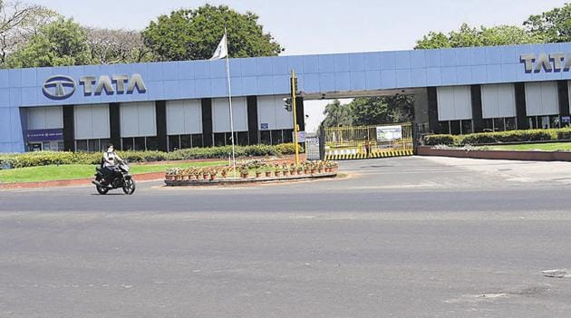 Majority of staff at TATA motors in Pimpri are working from home.(HT PHOTO)
