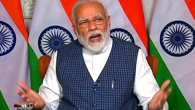 PM Modi advised people to isolate themselves in their own homes.(ANI photo)