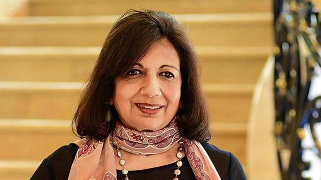 Kiran Mazumdar Shaw is the chairperson of biopharma major Biocon(HT Photo)