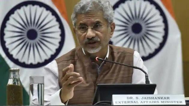 External Affair Minister S Jaishankar(Sanjeev Verma/HT photo)