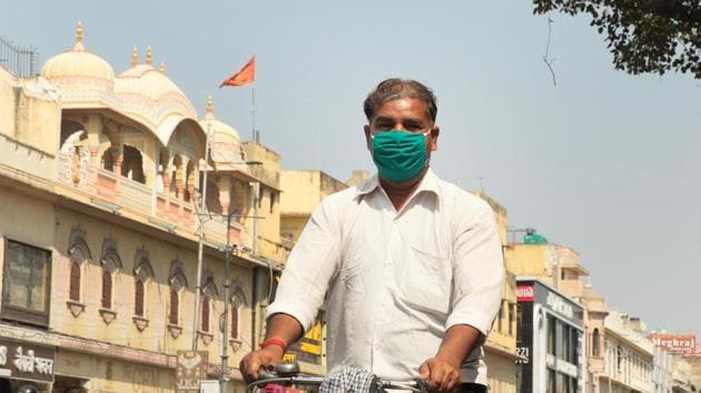 Rajasthan has imposed a lockdown to prevent the spread of coronavirus outbreak.(Himanshu Vyas / HT Photo)