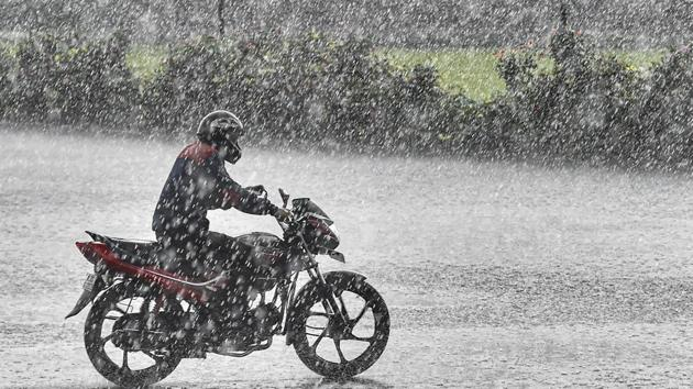 Delhi witnessed heavy rainfall in several areas on Tuesday(PTI)
