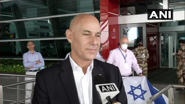 Israeli ambassador thanked India for assisting in Israel's efforts to evacuate citizens from the country.(ANI Photo)