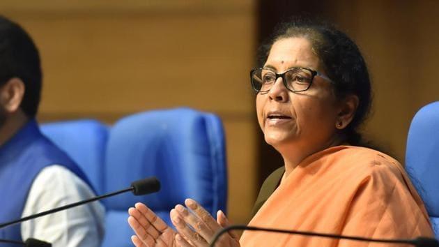 Finance Minister Nirmala Sitharaman announced a Rs 1.7 lakh crore Gareeb Kalyan Yojana to help the poor in the view of the coronavirus lockdown.(PTI Photo)