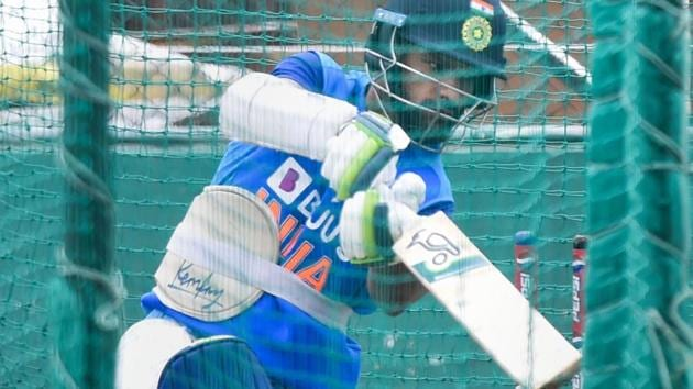 Indian batsman Shikhar Dhawan during a practice session.(PTI)