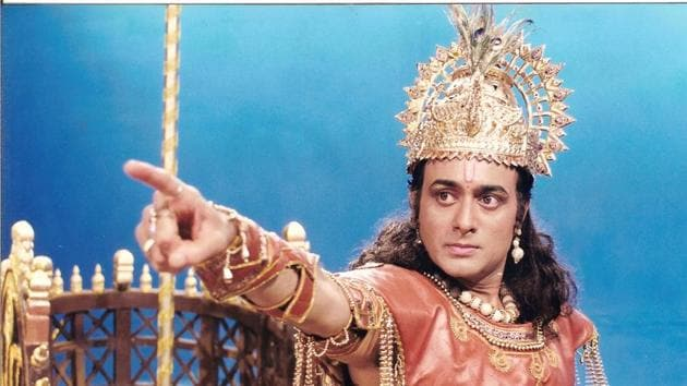 Nitish Bharadwaj as Krishna in a still from Mahabharat that aired for the first time in 1988.