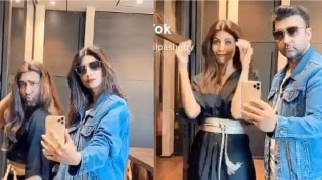 Shilpa Shetty and Raj Kundra have fun in a new video.
