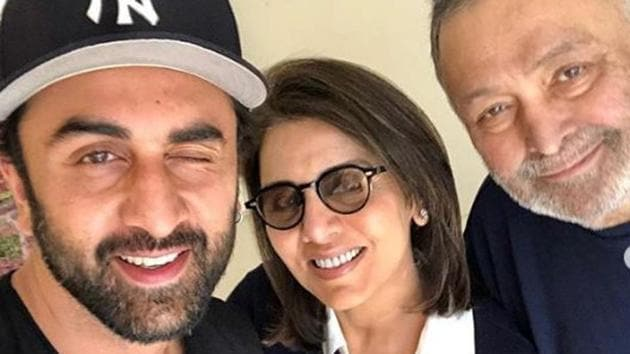 Ranbir Kapoor was by his parents side when they moved to New York.