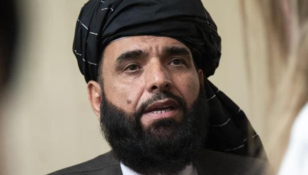 In this file photo, Suhail Shaheen, spokesman for the Taliban's political office in Doha, speaks to the media in Moscow, Russia. After months of deliberation Afghan President Ashraf Ghani announced his 21-member team to negotiate peace with the Taliban, only to have his political opponent reject it Friday, March 27, 2020, as not inclusive enough.(AP)