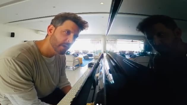 Hrithik Roshan is learning to play the piano.