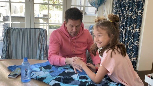 Mark Wahlberg with his daughter Grace.