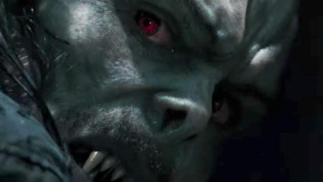 Jared Leto in a still from Morbius.