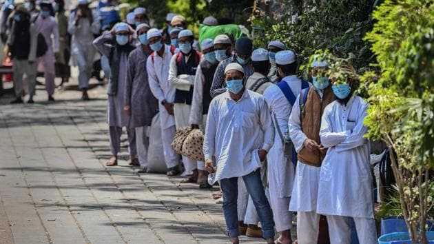 The home ministry said 1,203 Jamaat workers at the Hazrat Nizamuddin Markaz had been medically screened, an exercise that started on March 26.(Biplov Bhuyan/HT PHOTO)
