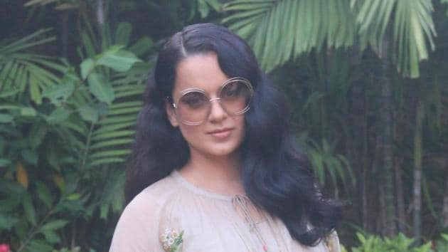 Kangana Ranaut during the promotions of the film Panga.(IANS)
