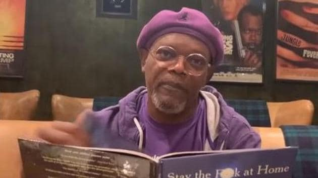 Samuel L Jackson in a screengrab from the video.