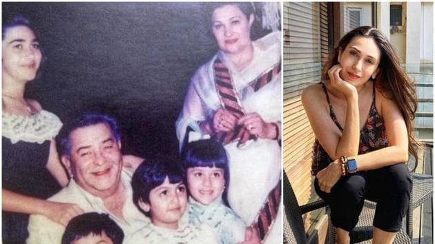 A throwback picture shared by Karisma Kapoor featured her grandfather late Raj Kapoor, sister Kareena and cousin Ranbir Kapoor.
