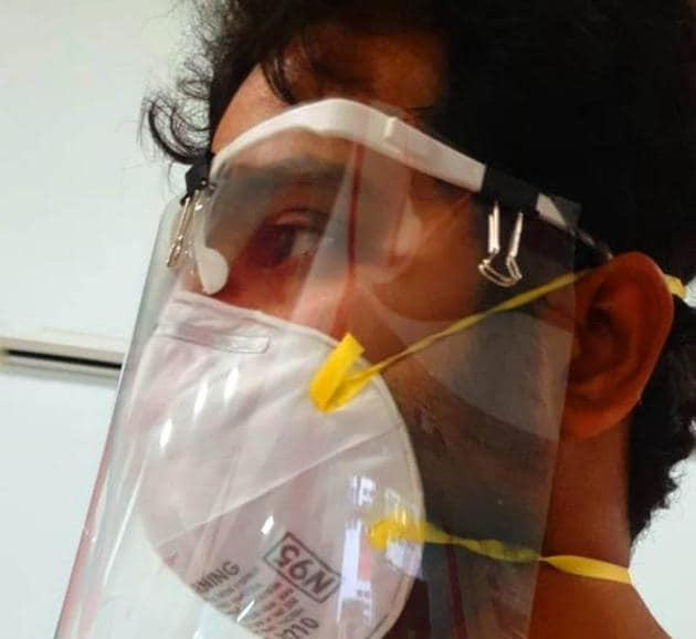 Face shield developed by IIT Roorkee.(HT Photo)