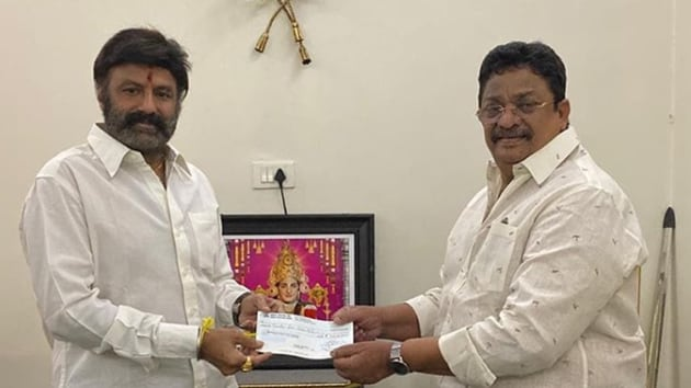 Nandamuri Balakrishna has contributed a total of Rs 1.25 crore to three funds.