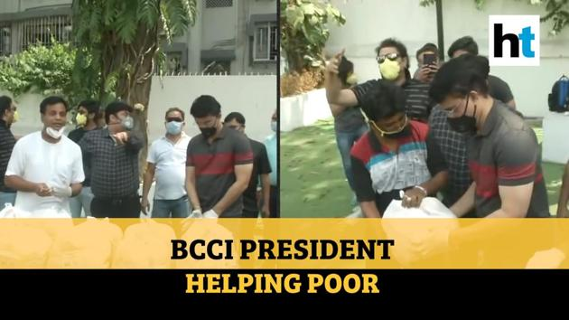 BCCI President Sourav Ganguly handed out food packages in Kolkata amid lockdown. Ganguly on Saturday extended a helping hand to ISKCON's Kolkata center, enabling them to feed 20,000 people. Wearing all protective gear such as masks and gloves, the former India captain visited the ISKCON city center and promised support.