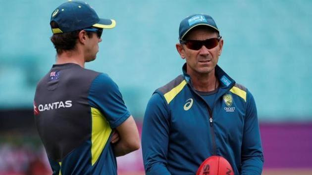 Australia head coach Justin Langer during nets.(Action Images via Reuters)