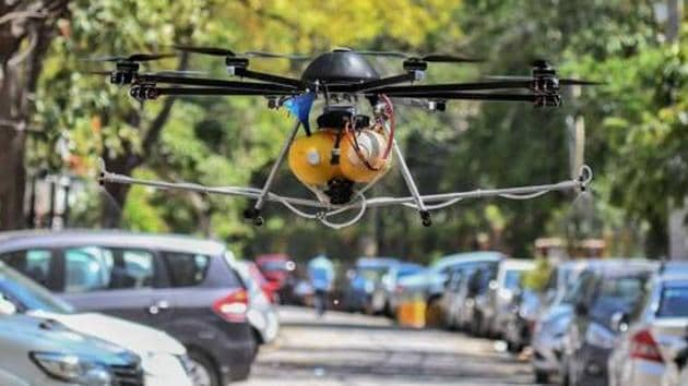 The police headquarters have given drones to several districts including Thiruvananthapuram, Kollam, Kochi, Thrissur and Kannur for carrying out surveillance to enforce social distancing.(Biplov Bhuyan/HT file photo. Representative image)