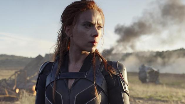 This image released by Disney/Marvel Studios' shows Scarlett Johansson in a scene from Black Widow.(AP)