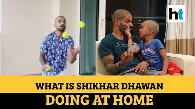 Indian cricketer Shikhar Dhawan urged fans to stay indoors during lockdown. The cricketer encouraged fans to contribute to PM Modi's national relief fund. Dhawan and his wife recreated an age-old Bollywood song at home. The couple was seen playing with table tennis rackets and ping pong ball. Dhawan is making the most of his quarantine time and learning something new. The India opener is also practicing boxing with his son during lockdown. Dhawan shared a funny video with his wife where he's seen washing clothes. He requested fans to put out food, water bowls outside their houses for animals and birds.