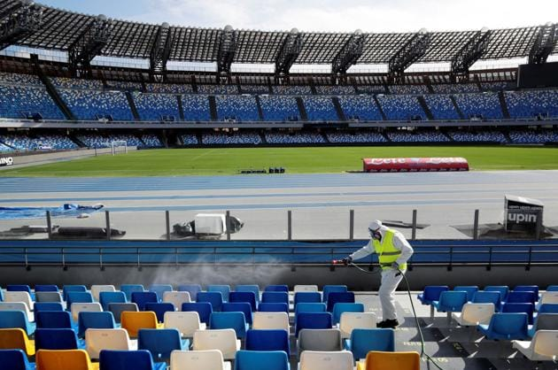 File image of an empty stadium in Italy.(Reuters)