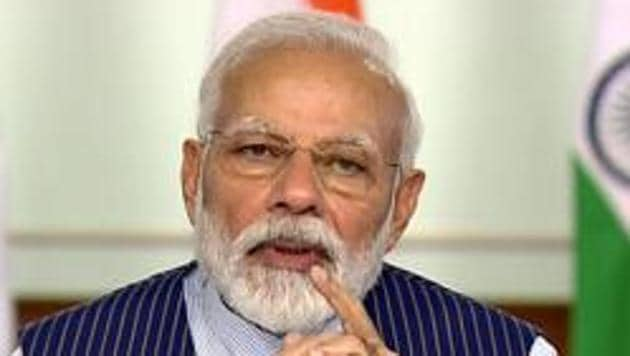 Prime Minister Narendra Modi paid tributes to those who toiled for decades to build the party, and said it is because of them that the BJP got the chance to serve the country.(ANI)