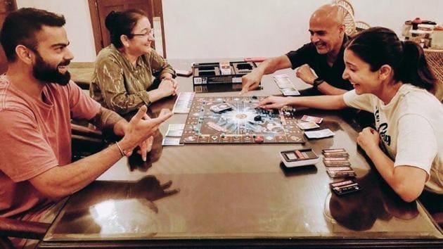Anusha Sharma is sharing time with parents and husband Virat Kohli amid lockdown.