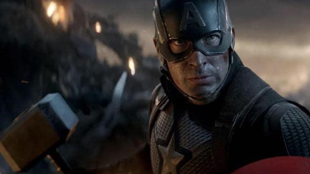 Chris Evans as Captain America in a still from Avengers: Endgame.