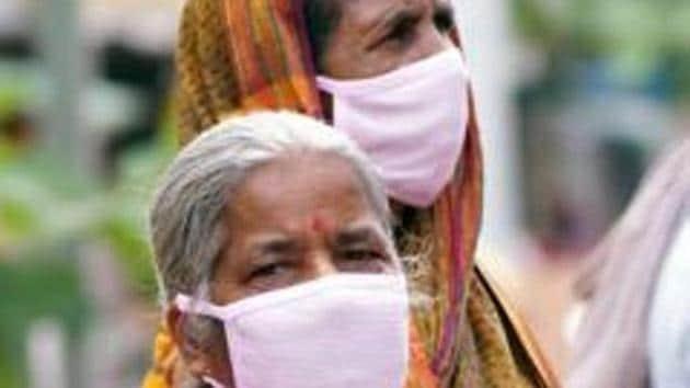 Elderly women wear face masks as precaution against novel coronavirus.(ANI)