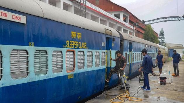 Railway bookings cancelled for three privately run trains till April 30.(PTI Photo)
